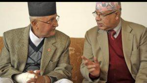 एमाले ओली र नेपाल समूहको फरक-फरक स्थानमा बैठक जारी