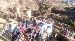 अछाममा बस दुर्घटनाः १ को मृत्यु, १७ जना घाइते