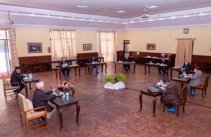 नेकपा सचिवालय बैठक शुरू, ओली पनि सहभागि