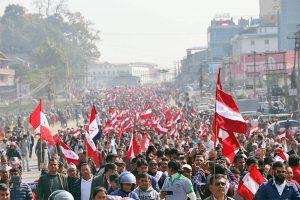 संसद् विघटनविरुद्ध ७५३ वटै स्थानीय तहमा प्रदर्शन गर्दै कांग्रेस, भोलिको विरोधलाई सफल पार्न देउवाले गरे अपील