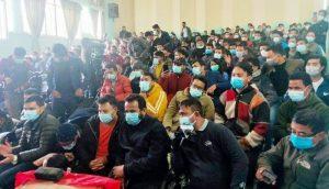 प्रचण्ड–नेपाल पक्षधर विद्यार्थीले गरे छुट्टै भेला