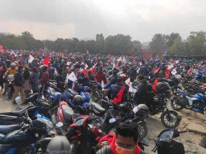 संसद् विघटनविरूद्व प्रचण्ड–नेपाल समूहको बृहत मोटरसाइकल र्याली शुरू