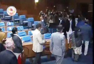 प्रचण्ड–नेपाल समूहका सांसदद्धारा संसद बैठक बहिष्कार