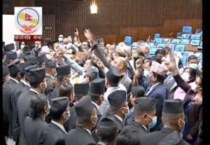 कांग्रेस र जसपाद्धारा संसद् बैठक अवरुद्ध, सरकारविरुद्ध नारावाजी
