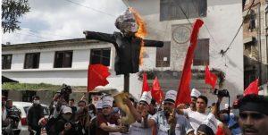 दार्चुला घटनाको विरोधमा भारतीय प्रधानमन्त्री मोदीको पुत्ला दहन