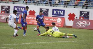 दोस्रो मैत्रीपूर्ण खेलमा नेपाल भारतसँग २-१ गाेलले पराजित